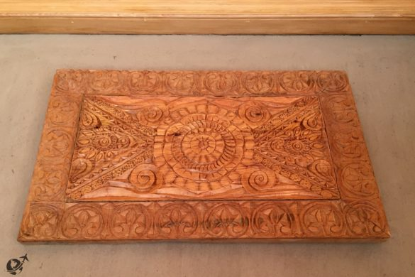Intricately carved wooden panels