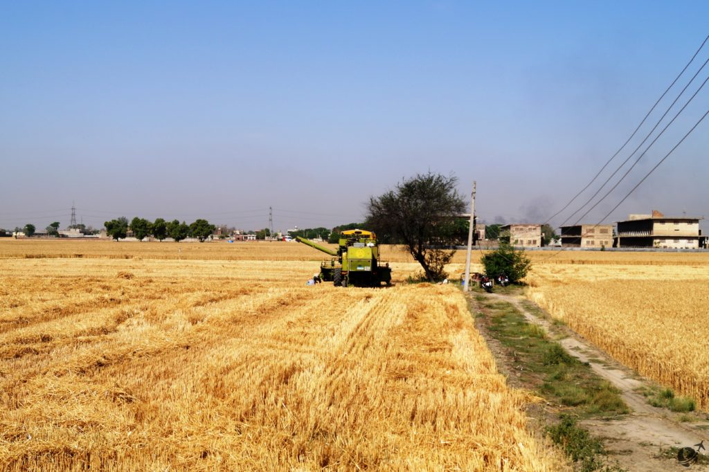 Happy Baisakhi, combine harvester