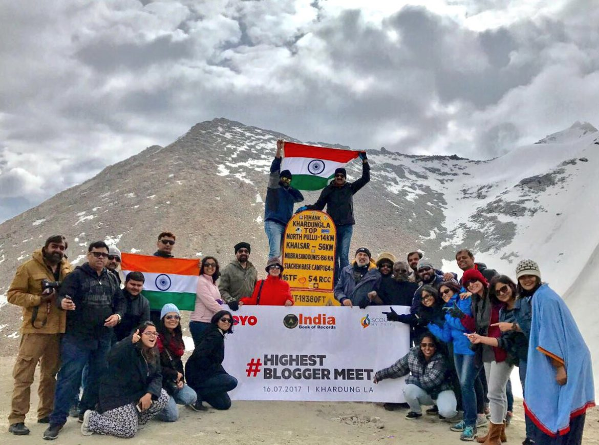 Ladakh, Leh, Road Trip, Scout My Trip, OYO, Highest Blogger Meet, #HighestBloggerMeet, Khardung La, Travel Bloggers